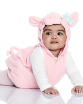 NEW NWT Carters Pig Halloween Costume 3/6 or 6/9 Months 3 Piece Fleece T... - $45.51 CAD