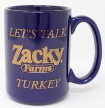 Let s Talk Zacky Farms Turkey Blue / Gold Large COFFEE TEA CUP MUG - $18.99