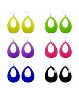 6 Pairs Acrylic Earrings Bright-colored Big Teardrop Earrings set Fish H... - $11.34