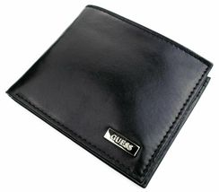 New Guess Men's Leather Credit Card Id Wallet Passcase Bifold Black 31GU22X018 image 6