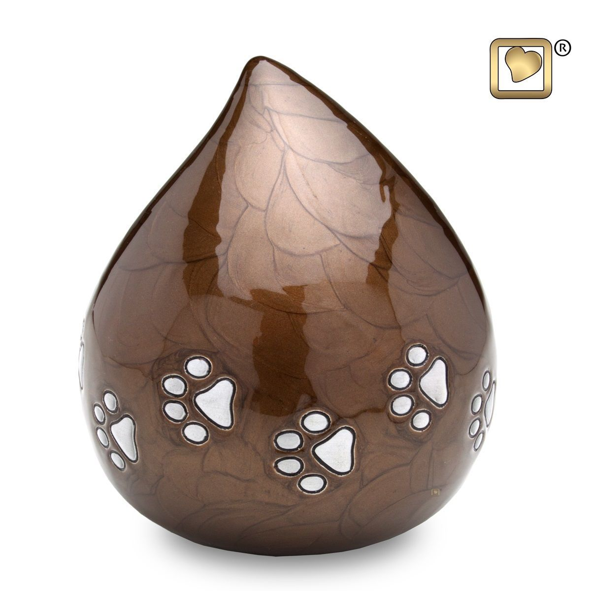 Bronze LoveDrop Pet Funeral Cremation Urn, 60 Cubic Inches