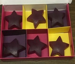 The Body Shop Frosted Plum Soap Set Of 6 Star Shaped NEW In Box - $9.80