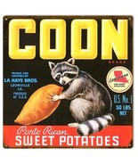Coon Porto Rican Sweet Potatoes Country Farmers Sign - $25.74
