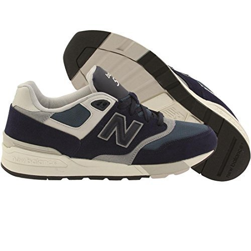 New Balance Men's ML597Modern Classics Fashion Sneaker, Blue Black/Onion Blue/Gr