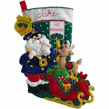 Bucilla 'Officer Santa' Christmas  Felt Stocking Stitchery Kit, 86711 - $26.99