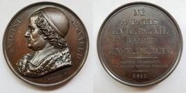 1817 French Philosopher Antoine Arnauld (1612-94) Bronze Medal by Depaulis F. - $124.99