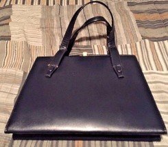 Mastercraft Made In Canada True Vintage DEEP BLUE 2 Strap Snap Bag EUC - $21.37