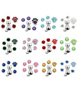 Floating Charm Charms Cat Birthstones Paw Lover Pet fit Origami Glass Lo... - $5.80