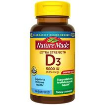 Nature Made Extra Strength Vitamin D3 5000 IU (125 mcg), D - $10.74