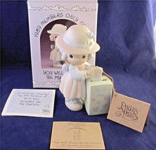 Precious Moments Enesco You Will Always Be My Choice Members Only Figurine Box - $22.00