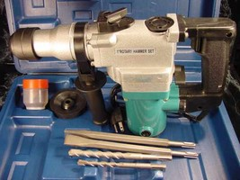 """1"""" SDS ROTARY HAMMER DRILL KIT 3in1 with CASE BITS & CHISELS Tool Electr... - $59.99"""