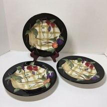"3 Salad Bread Plates Fruit Arbor Certified International 8.5"" Patricia Brubaker - $24.18"