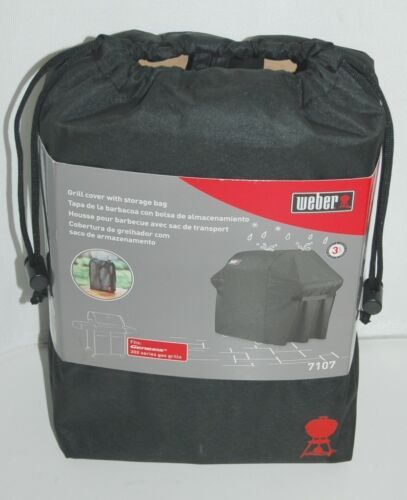 Weber 7107 Full Length Grill Cover with Storage Bag Color Black
