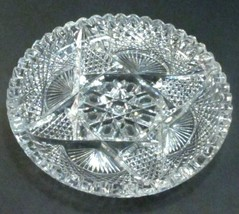 ABP Crystal Cut Glass dish signed Hoare - $83.22