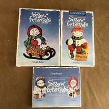 Longaberger Snow Friends cookie molds ornaments chilly sleigh bells ball... - $26.24