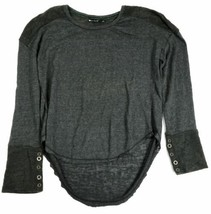 Medium Women's Luv 4 Anouka Sweater French Terry Hi-Low Long Sleeve Pullover NEW