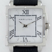 Hamilton SS Women's Jazzmaster Quartz Watch Leather Band H322910 Diamond... - $445.49