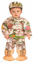 Infant I Wannabee Soldier Halloween Costume Army G.I. 18.5-23 Lbs Hat & Onesie - $23.09