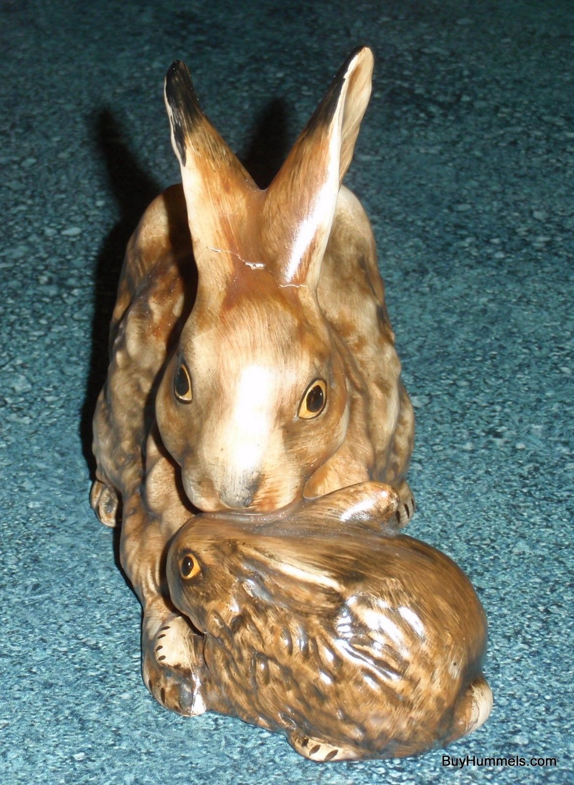 1975 Goebel Figurine Mother's Series West Germany Brown Rabbits 34 301-1 - GIFT!