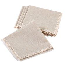Fennco Styles Elegant 20-inch Cloth Napkins, Set of 4 (Natural) - $22.76