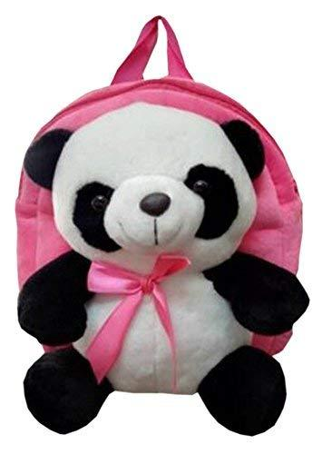 Cute Panda Children's Shoulders Bag Kids Plush Backpacks Pink