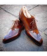 Handmade Brown Ankle Leather Shoes, Men's Formal Shoes  - $139.00 - $179.97