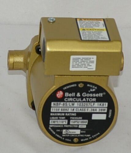 Bell Gossett 1033257LF NBF 8S LW Bronze Circulator Pump Lead Free