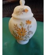 Beautfiul Collectible FENTON Handpainted GINGER JAR Signed B.Montgomery - $33.73