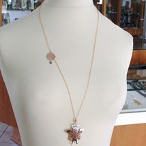 Silver Necklace 925 Laminated in Rose Gold le Favole with Prince and Star image 2