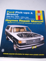 Auto Manual Haynes Ford Pickups and Bronco 1980-1996 - $19.59