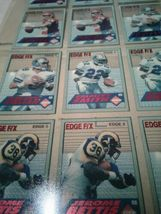 1994 COLLECTOR'S EDGE FOOTBALL - UNCUT CARDS / POSTER (jew) image 4
