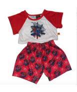 Build A Bear Clothing Spiderman Pajamas Red Black White Outfit for Stuff... - $16.99