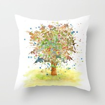 Throw Pillow Cushion case Made in USA Landscape 466 tree art painting L.Dumas - $29.99+