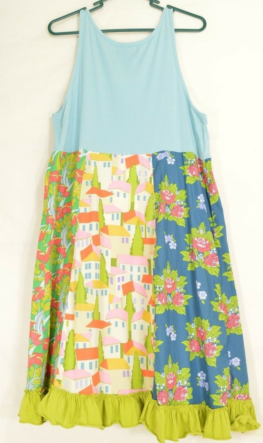 Matilda Jane dress XL Good Hart Farmers Market tank dress colorful flouncy