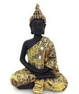 Praying Buddha Lotus Position Figurine Rhinestones Gift Home Decor GSC 8... - $10.62