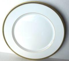 Hutschenreuther White Dinner Plate Gold Rim Trim Germany 1814  - $26.68