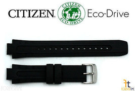 Citizen Eco-Drive E168-s061903 Original 14mm Schwarz Gummi Uhrenarmband ... - $84.47