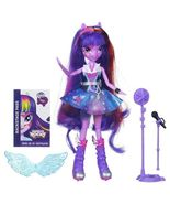 My Little Pony Equestria Girls Twilight Sparkle Rocks/Sings Doll/Microph... - £20.48 GBP