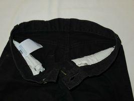 Boys Levis 505 Straight Black Denim Jeans Size 10 Reg Short! Brushed Cotton Warm image 4