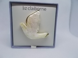 Vintage Liz Claiborne MOP Mosaic Dove of Peace Pin Brooch NIB - $12.00