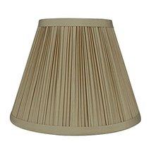 Urbanest Mushroom Pleated Softback Lamp Shade, Faux Silk, 5-inch by 9-inch by 7- - $17.81