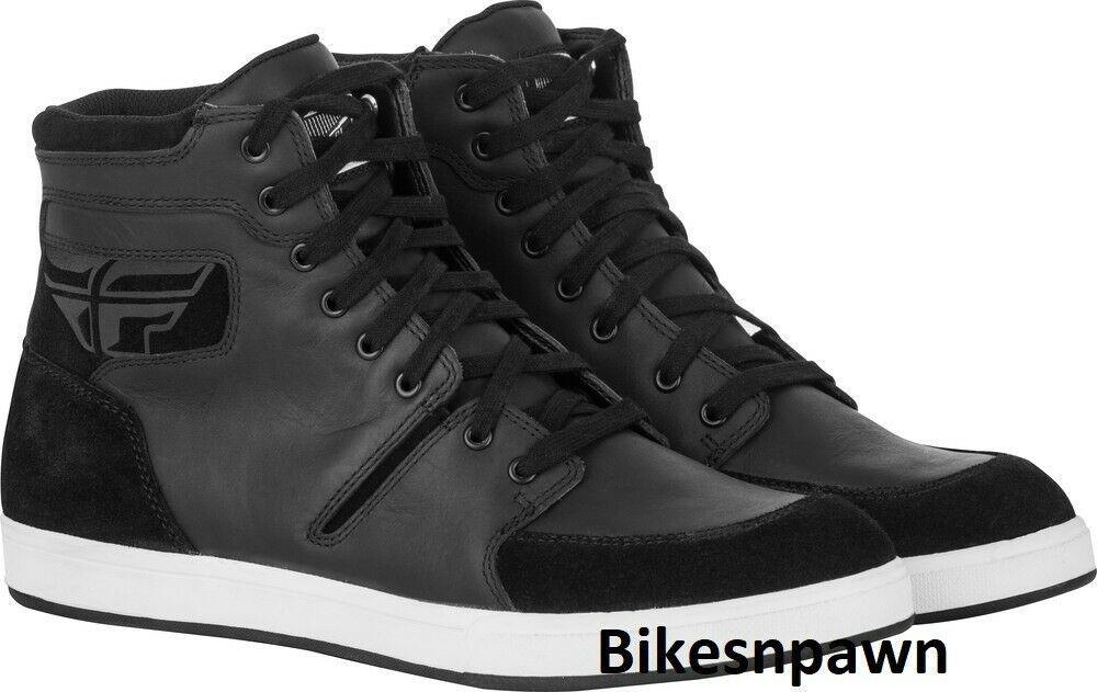 New Size 8 Mens FLY Racing M16 Black Waterproof Motorcycle Street Riding Shoe