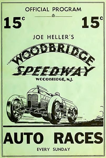 Primary image for 1934 Woodbridge Speedway Auto Races - Program Cover Poster