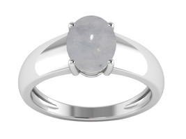 Solitaire Ocean Feel Rainbow Moonstone 2.00 Ctw Oval Cab Women Wedding Ring - $15.95+