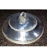 Vintage Ornate Handle Dome Covered Bowl Stamped BUENILUM BW Aluminum - $17.00