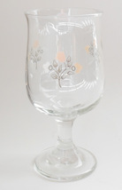 "Pfaltzgraff Remembrance Short Goblet Stemware Wine Glass  5.75"" Flower P... - $6.95"