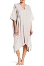 NWT New Designer Natori Womens S Caftan Tan Light Brown Khaki Cotton Lon... - $120.25
