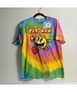 Pac Man Bandai Namco Unisex Graphic T-Shirt Multicolor Tie Dye 100% Cott... - $19.79