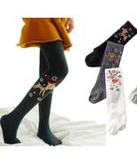 Girl Kid Deer Tight Cute Animal Print Christmas Stockings Long Pantyhose... - $8.99