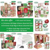 24 Christmas Gift Bags Assorted sizes with 60-Count Christmas Gift Tags(Bulk Set image 6